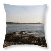 Wood Island Lighthouse 1 Throw Pillow