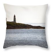 Wood Island Lighthouse 2 Throw Pillow