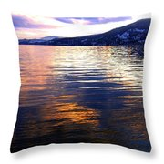 Wood Lake Reflections Throw Pillow