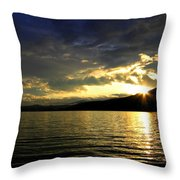 Wood Lake Sunburst Throw Pillow