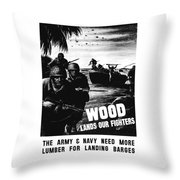 Wood Lands Our Fighters Throw Pillow