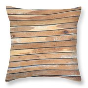 Wood Lines Throw Pillow