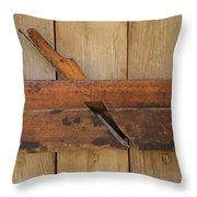 Wood Molding Plane 2 Throw Pillow