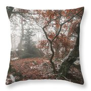 Wood Mystery  Throw Pillow