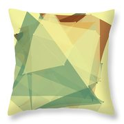 Wood Polygon Pattern Throw Pillow
