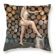 Wood Shed 269 Throw Pillow