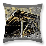 Wood Shed Throw Pillow