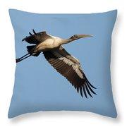 Wood Stork 1 Throw Pillow