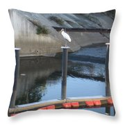 Wood Stork 1 Meander Throw Pillow