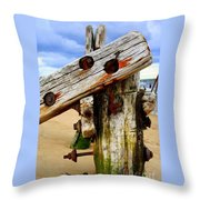 Wood Structure Throw Pillow