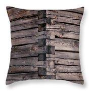 Wood Walls Throw Pillow