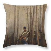 Wood With Soldiers Throw Pillow