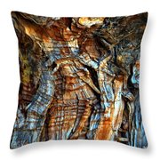 Wood Wrinkles Throw Pillow