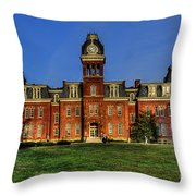 Woodburn Hall In Morning Throw Pillow