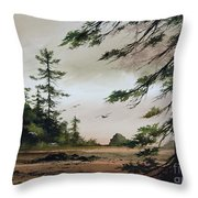 Wooded Shore Throw Pillow