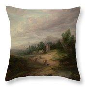 Wooded Upland Landscapewooded Upland Landscape By Thomas Gainsborough, Circa 1783 Throw Pillow