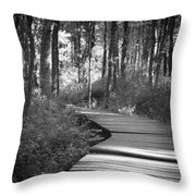Wooded Walk Throw Pillow