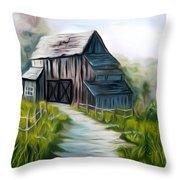 Wooden Barn Dreamy Mirage Throw Pillow
