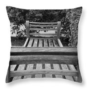 Wooden Bench Throw Pillow