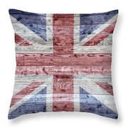 Wooden Boards United Kingdom Throw Pillow