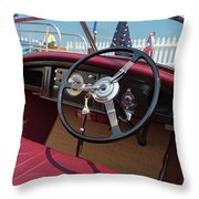 Wooden Boat Classic Throw Pillow