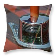 Wooden Boat Details Throw Pillow
