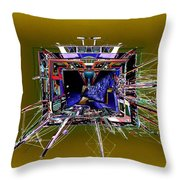 Wooden Boat Vortex Throw Pillow