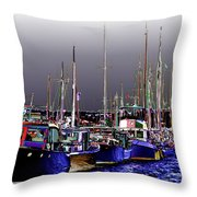 Wooden Boats 2 Throw Pillow