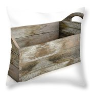 Wooden Carry Crate Throw Pillow