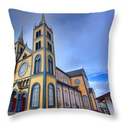 Wooden Cathedral  Throw Pillow
