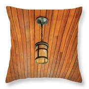 Wooden Ceiling Throw Pillow