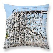 Wooden Coaster Throw Pillow