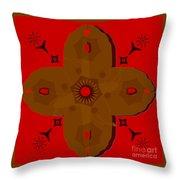 Wooden Cross Throw Pillow
