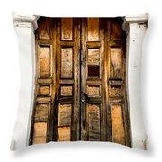 Wooden Door 1 Throw Pillow