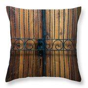 Wooden Door 2 Throw Pillow