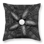 Wooden Fan Throw Pillow