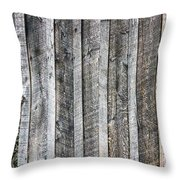 Wooden Fence And Ivy Throw Pillow