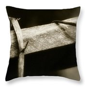 Wooden Fence Part 1 Throw Pillow