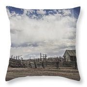 Wooden Fenced Corral Out West Throw Pillow