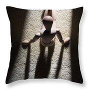 Wooden Figurine Throw Pillow