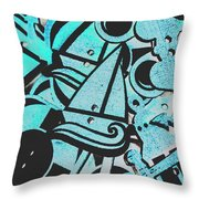Wooden Harbour Throw Pillow