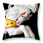 Wooden Horse 2 Throw Pillow