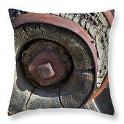 Wooden Hub Throw Pillow