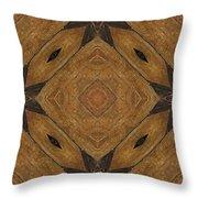 Wooden Maltese Cross Fresco Throw Pillow