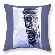 Wooden Man Throw Pillow