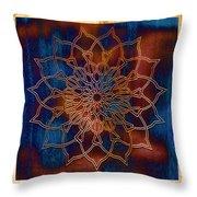 Wooden Mandala Throw Pillow