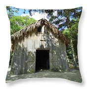 Wooden Mission Of Nombre De Dios Throw Pillow