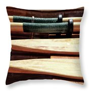 Wooden Oar Pattern Throw Pillow