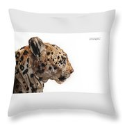 Wooden Panther Throw Pillow