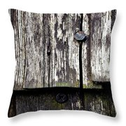 Wooden Plate With  Nails Throw Pillow